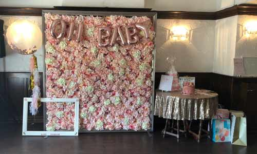 Baby Shower Flower wall hire peterborough