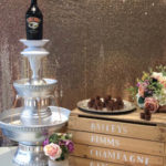 Baileys Drink fountain wedding event hire