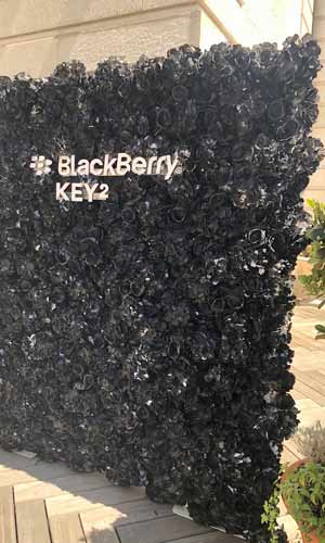 Blackberry Phone Corporate Event Flower wall london