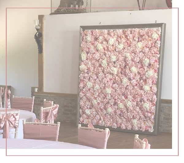 Elegant design Events Flower UK Wall Hire