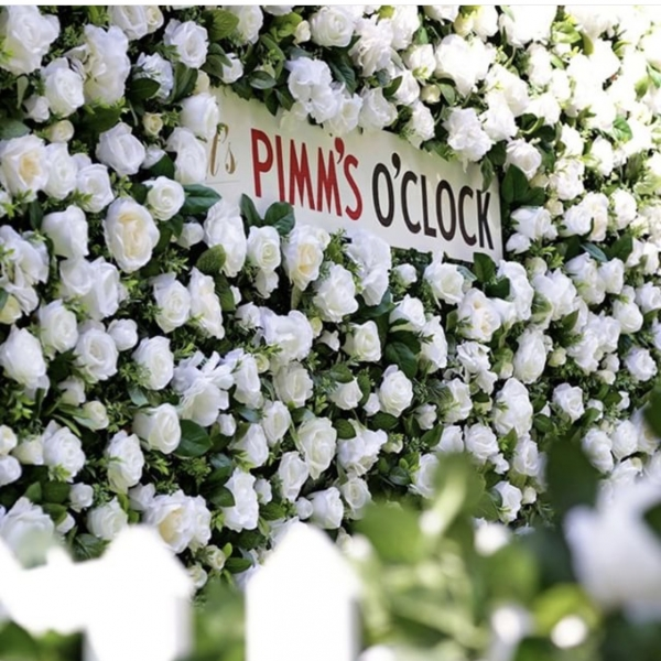 Corporate Flower wall - Pimms at Wimbledon