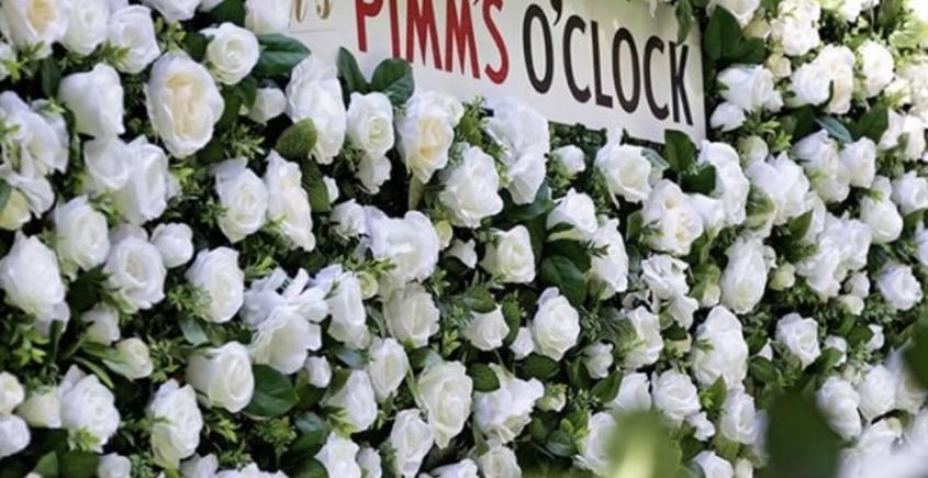 Corporate Flower wall - Pimms at Wimbledon