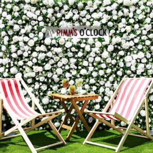 Pimms Flower wall at wimbledon Elegant Design