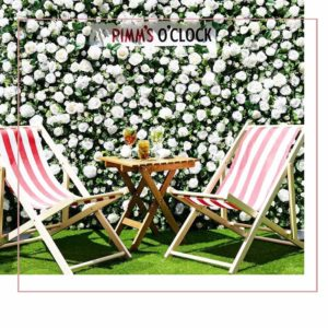 Pimms corporate event flower wall hire elegant design peterborough