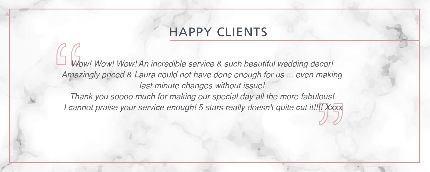 Review Happy Client wedding decor peterborough