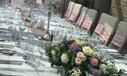 Wedding table decor hire