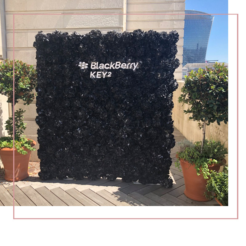 BlackBerry_Key_2_Product_Launch_Flower_wall_