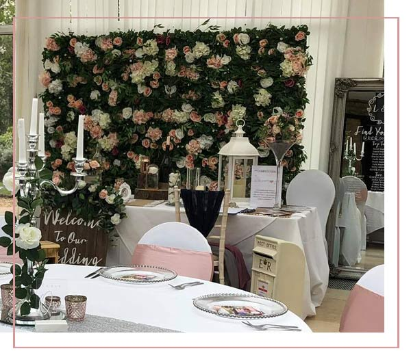wedding and event gallery Flower Wall Hire