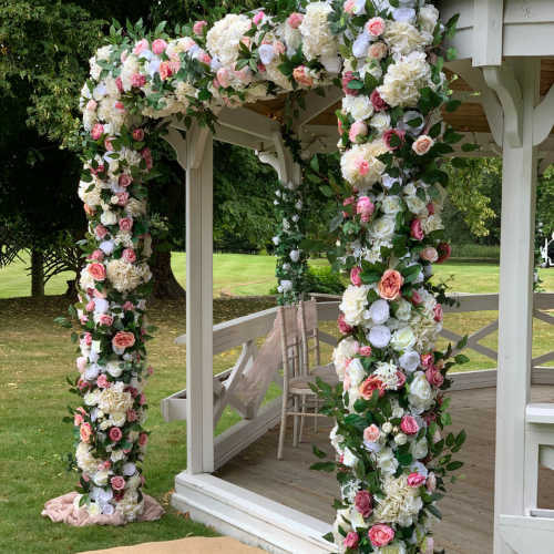 square floral arch